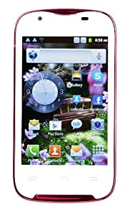 TTsims L5 - 3.5 inch Android 4.0 - Ice Cream Sandwich - Smart Phone with Capacitive screen - MTK6515 1GHz - Dual Sim Wifi Star Camera 2 sim slots Google Play Store - Unlocked - Pink/White