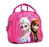 Disney Frozen Elsa and Anna Hot Pink Lunch Bag and Coloring Book