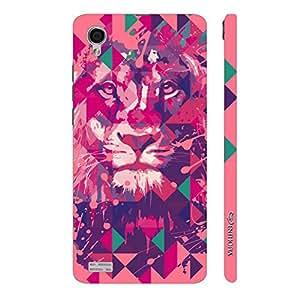 Enthopia Designer Hardshell Case Lion Art Light Pink Back Cover for Vivo Y31L