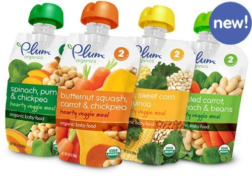 Plum Organics Stage 2 Hearty Veggie Meals Starter Pack Baby Food (each 3.5 oz) (4 FLAVORS Pack) - 1