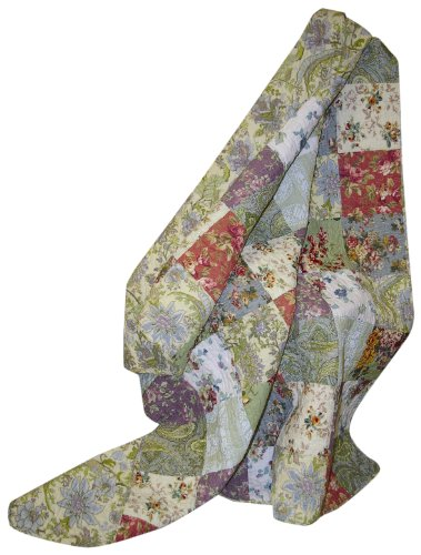 Why Should You Buy Greenland Home Blooming Prairie Quilted Patchwork Throw