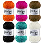 Gründl Cotton Fun Häkelgarn Schulgarn 100% Baumwolle SET 2 Bunt Mix 6 x 50 g = 300 Gramm