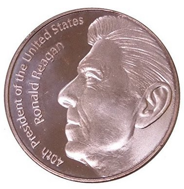 1 Ounce 40th President Ronald Reagan Tribute Copper Round - 1