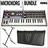 Korg microKORG Portable Synthesizer Bundle with Stand and Gig Bag