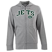 NFL Men's York Jets Split Applique Full Zip Hood by Antigua