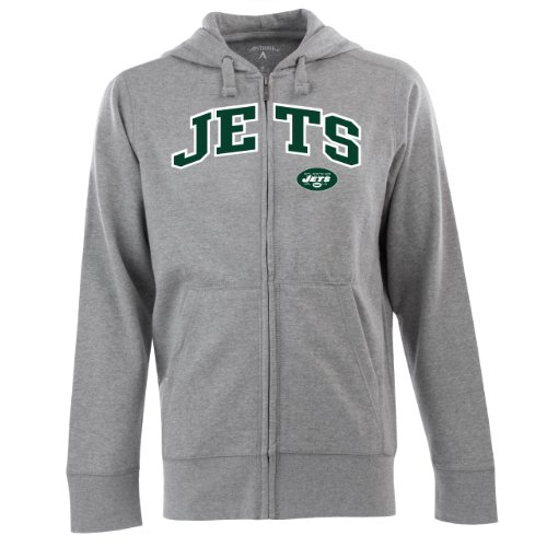 Mens New York Jets Antigua Green Tempest Full Zip Jacket