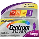 Centrum Silver Women 50+ Multivitamin/Multimineral Supplement Tablets, 100 Count