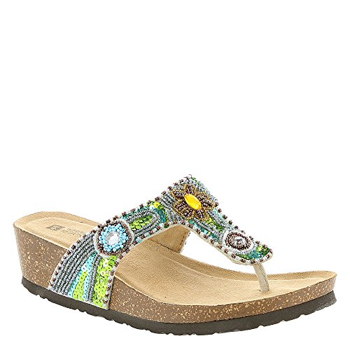 White Mountain Blue Jay Womens Sandals Beige Multi 9 M