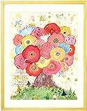 誕生日プレゼント 女性 絵画アート 【名前入れ可】「咲きつづく日々(額入りS)」 人気ランキング 妻 友達 彼女 母 30代 40代 20代 雑貨 花 ギフト ポエム付き