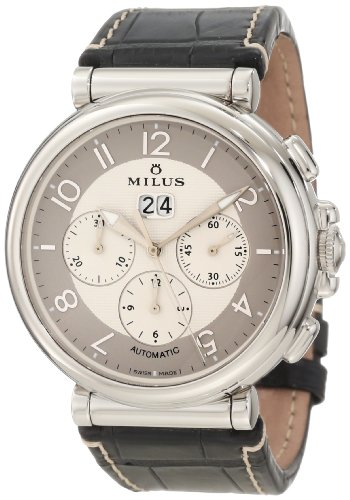 Milus Men's ZETC006F Stainless Steel with White Dial Watch