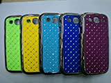 Maclogy 2014 Latest Fashion Design Luxury Dazzling Rhinestones Shiny Crystal Diamond Plating Protective Shell Trapped Difficult Cases Samsung Galaxy S3 I9300 And Fashion Chain Crystal Ornaments Color UV Radiation Gifts (Yellow)