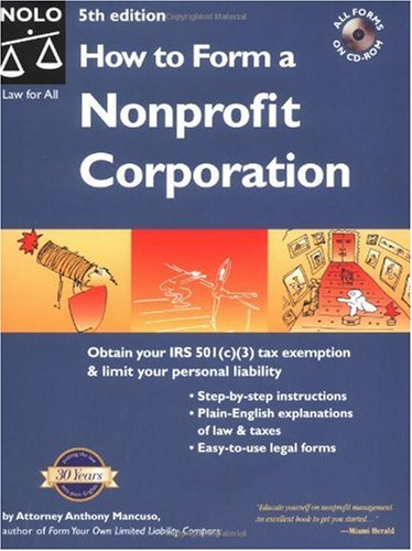 How to Form a Nonprofit Corporation (5th Edition)