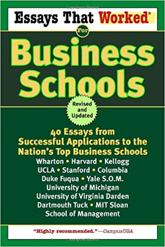 A Collection of 10 successful MBA Essays - e-GMAT