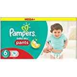 Pampers Windeln Baby Dry Pants Größe 6 extra large 16 plus kg Mega Plus Pack,76 Stück
