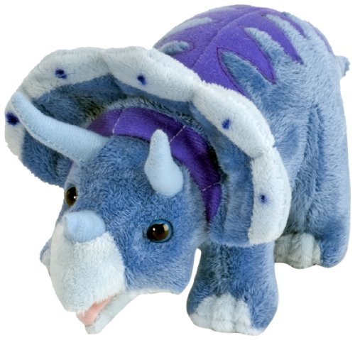 "Wild Republic Dinomites Mini Triceratops 10"" Plush"
