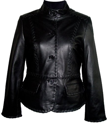 Paccilo FREE tailoring Womens 4025 Plus Size Short Leather Jacket