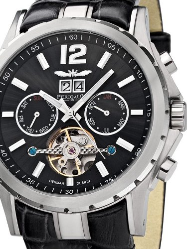 Perigaum 1972 Automatic Reloj para hombres Volante Abierta