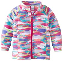 Columbia Baby-Girls Infant Benton Springs Printed Fleece, Whitened Violet Camo, 18-24 Months