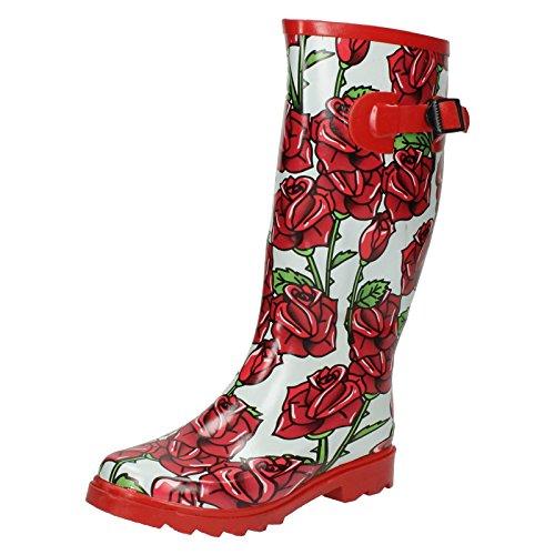 Spot On, Stivali di gomma donna, Rosso (rosso), 36
