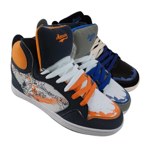 Mens Hi Top Baseball Boot Trainers Graffiti Skate Shoe Size UK 7 8 9 10 11 12