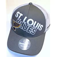 NHL St. Louis Blues Trucker Mesh Back Snapback  Reebok Hat - Osfa - NH34Z