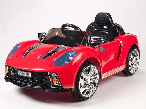 Porsche Style Kids 12V Battery Powered Wheels Ride On Car Rc Remote Red
