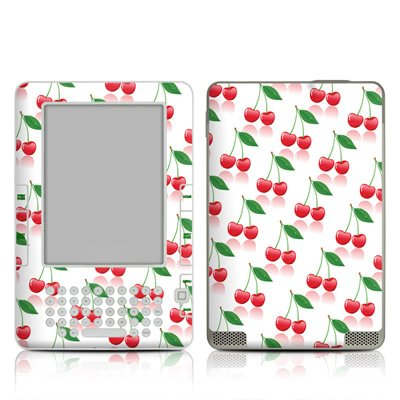 Cherry Design Protective Decal Skin Sticker For Amazon Kindle 2 E-Book Reader (2Nd Gen) front-927531
