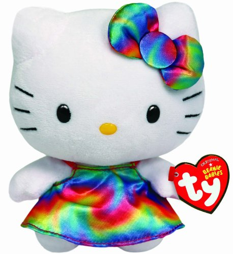 Ty Beanie Babies Hello Kitty Plush, Rainbow - 1