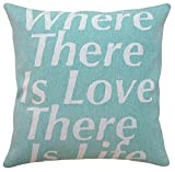 123 Creations All Natural Linen Sayings Pillow, Where There is Love
