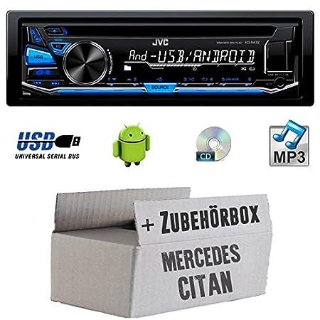 Mercedes citan W415-JVC KD r472e-Kit de montage autoradio CD/MP3/USB -