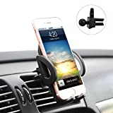 Car Cell Phone Holder, X-cable Universal Air Vent Car Mount Stand with 360° Rotation Ball Joint, Car Cradle for iPhone iPods Smartphones Mini Tablets and GPS Devices, Expand up to 3.7 inch, Black