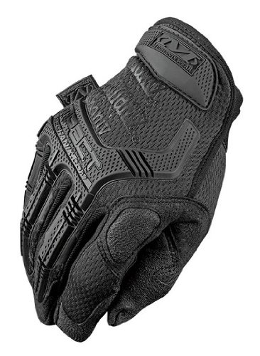Mechanix Wear M-Pact MPT-55 Black 12 Synthetic Leather/Trekdry Mechanic's Gloves - Thermoplastic Elastomer Fingers & Knuckles Coating - MPT-55-012 [PRICE is per PAIR]
