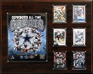 NFL 12 x 15 in. Dallas Cowboys 16 x 20 in. All-Time Greats Photo Plaque by C&I Collectables