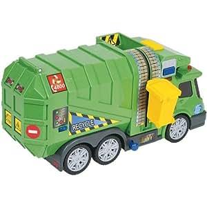 Amazon Com Fast Lane Light Amp Sound Garbage Truck Toys