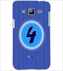 PrintDhaba Numerology Number 4 D-2559 Back Case Cover for SAMSUNG GALAXY J2 (Multi-Coloured)