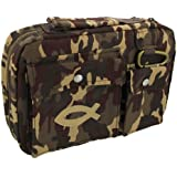 Cotton Twill Camouflage Bible / Book Cover w/Fish Patch (Medium) [Unbound] by