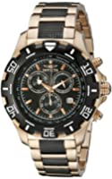 Invicta Specialty Men's Quartz Watch with Black Dial  Chronograph display on Rose Gold Plated Bracelet 1221