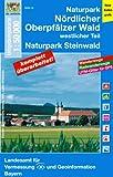 UK50-14 Naturpark Nördlicher Oberpfälzer Wald, westlicher Teil: Naturpark Steinwald, Fichtelgebirge, Stiftland, Marktredwitz, Weiden i.d.Opf., ... Karte Freizeitkarte Wanderkarte)