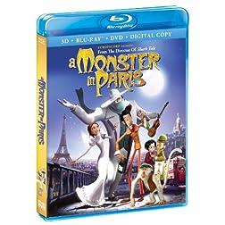 A Monster In Paris (Blu-Ray + 3-D Blu-Ray + DVD + Digital Copy)