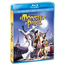 A Monster In Paris (Blu-Ray + 3-D Blu-Ray + DVD + Digital Copy)