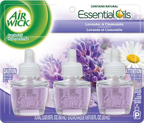 Air Wick Scented Oil Air Freshener, Lavender and Chamomile, 3 Refills, 0.67 Ounce (Packaging may vary)