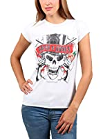 Amplified Camiseta Manga Corta Guns N'Roses (Blanco)