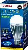 TOSHIBA E-CORE LED電球 一般電球形8.7W(白色相当) LEL-AW8N