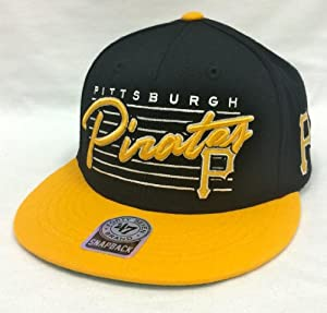 47 Brand Fission Pittsburgh Pirates Black & Yellow Snapback by