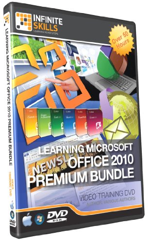 Infinite Skills Learning Microsoft Office 2010 Tutorial DVDs Box Set - Premium Training Bundle 50+ Hours (PC / Mac)