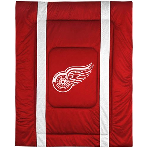 Detroit Red Wings Red-White Sideline Full/Queen Size Comforter