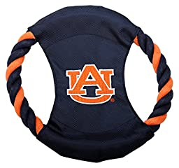 Pet Goods Manufacturing DISCRP-010 NCAA Auburn Tigers Rope Disc Dog Toy