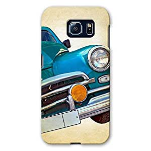 ArtzFolio Vintage Car : Samsung Galaxy S6 Matte Polycarbonate ORIGINAL BRANDED Mobile Cell Phone Protective BACK CASE COVER Protector : BEST DESIGNER Hard Shockproof Scratch-Proof Accessories