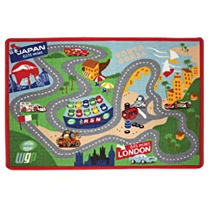 Amazon Com Disney Cars 2 Game Play Rug With 2 Cars