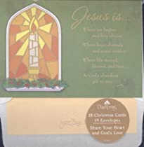 Jesus Is Where Joy Begins and Love Abides - Christmas Cards - Christmas Cards with Scripture - 18 Cards - 18 Envelopes